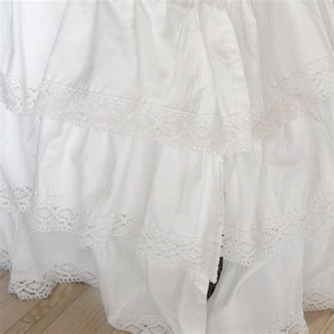 ruffle bed skirt lace bed skirt