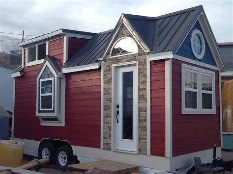 tiny house with garage 1st tiny house build finished exterior traditional