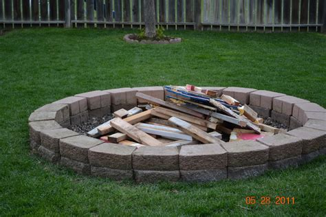 building fire pit in backyard the burk family family fire pit