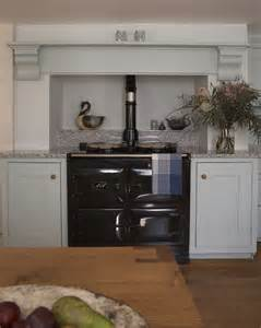 Hoods Kitchen Cabinets Classic English Cabinetry Surround A Classic Black Aga