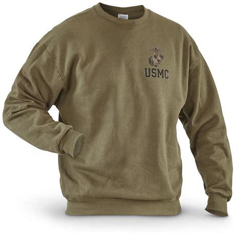 Sweater Hoodie Evil Corp Navy Front Logo usmc surplus sweatshirt new 661419 sweatshirts hoodies at sportsman s guide