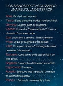 Calendario De Signos Zodiacales Los Signos Protagonizando Una Pel 237 Cula De Terror Zodiaco