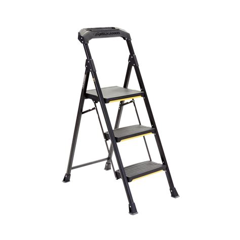 Detox Uses A Fan As Step Stool by Gorilla Ladders 3 Step Steel Step Stool With 300 Lbs Load