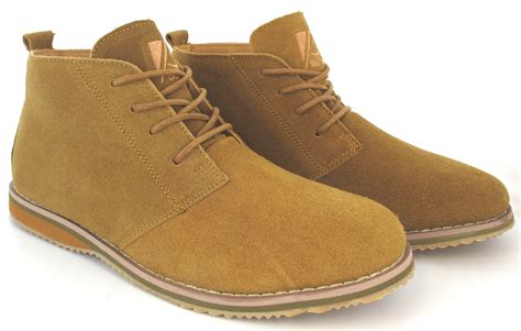 chukka boots mens fashion mens suede casual lace up fashion boots leather suede