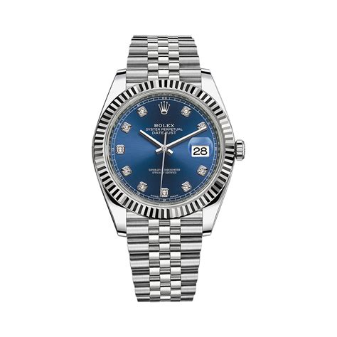 Saf 41 Blue Set rolex datejust 41 126334 white gold stainless steel blue set with diamonds world s best