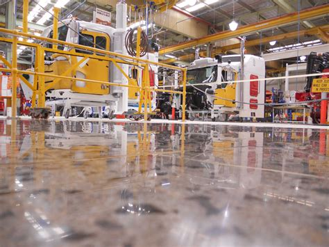 kenworth trucks bayswater truck maker upgrades to polished concrete geocrete blog