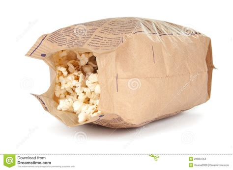 Popcorn In A Paper Bag - popcorn in a paper bag stock images image 21864754