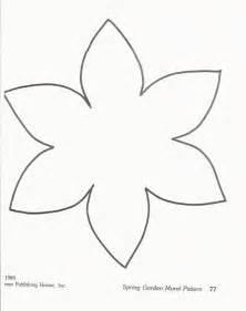 Flower Template For Preschool preschool flower template templates
