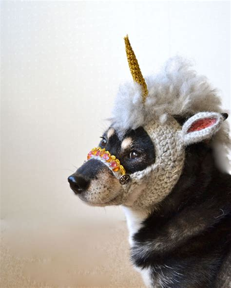 mask for dogs magical unicorn mask for dogs things