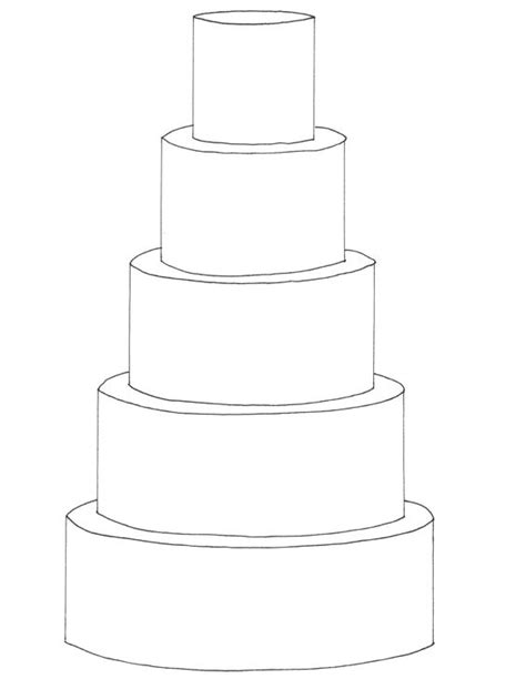 tier cake coloring page 5 tier round cake template free downloadable cake