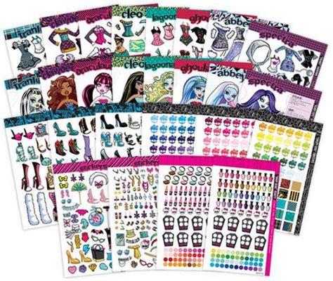 printable stickers walmart monster high fashion sticker stylist walmart ca
