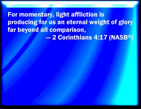 light and momentary affliction bible verse powerpoint slides for 2 corinthians 4 17