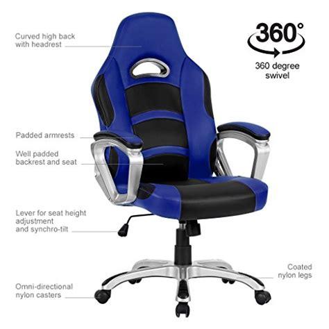 fauteuil de bureau gaming langria fauteuil de bureau racing pour gaming faux cuir