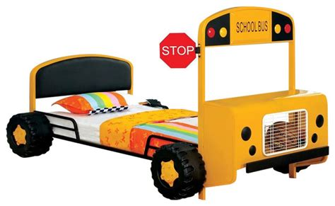 school bus bed school bus twin size bed with front table and storage