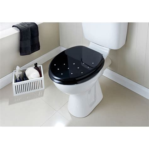 moulded wood diamante toilet seat scatter bathroom bm