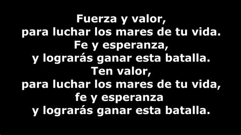 y lyrics sergio contreras fuerza y valor lyrics 2