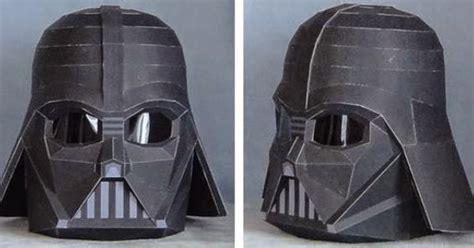 Origami Darth Vader Helmet - papermau wars darth vader wearable helmet paper
