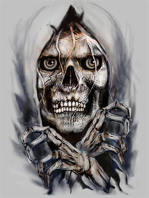 skull breaking out by rjrazar1 on deviantart
