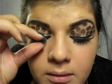 leopard makeup tutorial leopard eyes makeup tutorial youtube