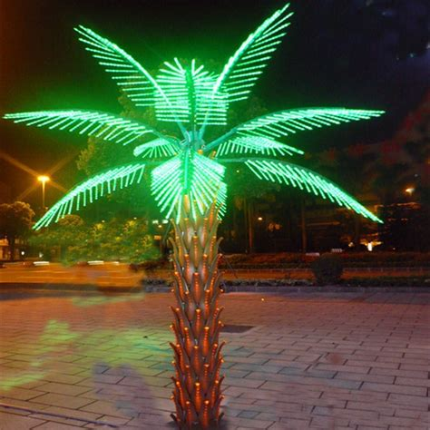 outdoor palm tree light landscape light up plant with