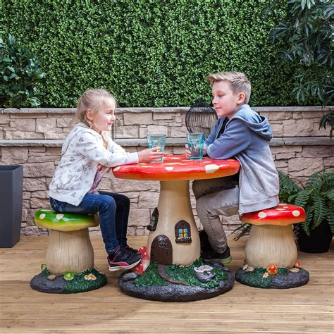 kids backyard store kids mushroom outdoor garden patio table stools