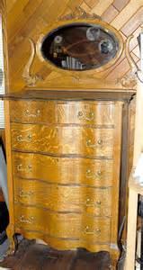Antique Oak Highboy Dresser by American Oak 6 Drawers Highboy Chiffonier With Claw