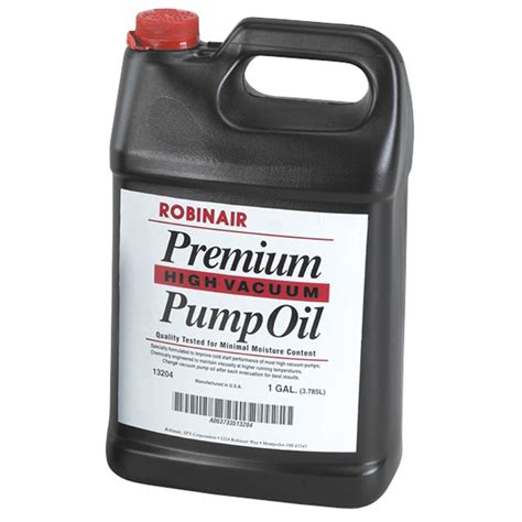 vacuum oil pump robinair 13204 vacuum pump oil gallon bottle 4 pk
