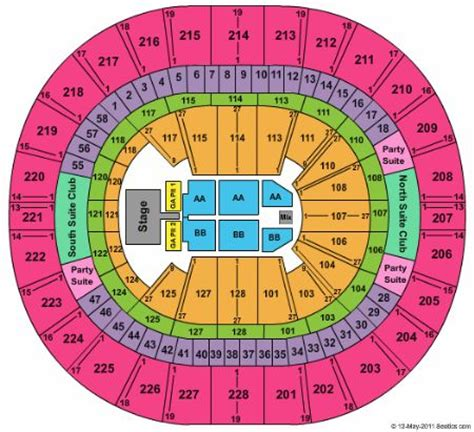 key arena seating pink key arena tickets and key arena seating chart buy key