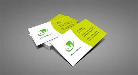 Interior Home Designing Business Card Design And Printing For Dental Care Clinic