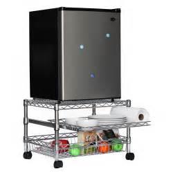 mini fridge cart for dorms shelving