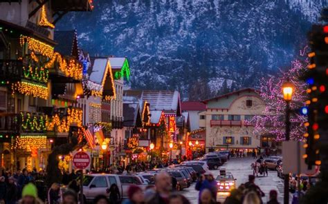 leavenworth christmas lighting festival happy places