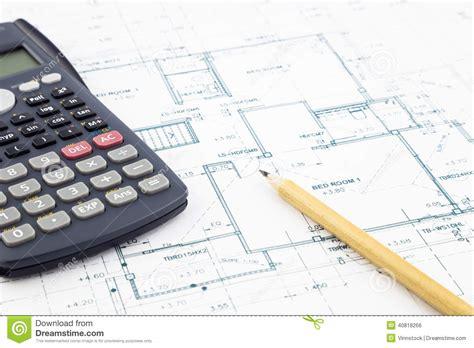 floor plan calculator floor plan and calculator stock photo image 40818266