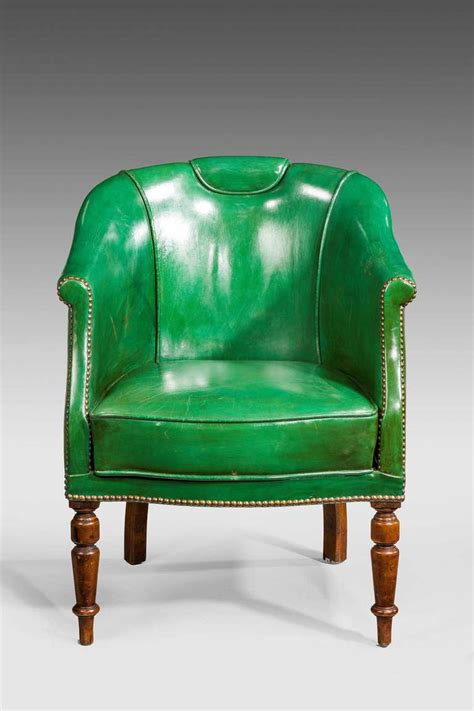 green leather chair 19th century green leather chair at 1stdibs