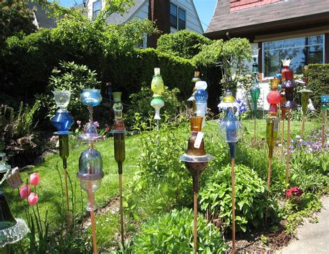 garden decoration arts glass bottle garden decoration ideas garden decoration ideas