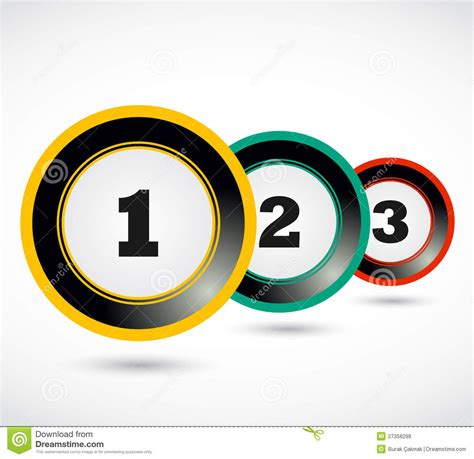 three one one two three 1 2 3 button royalty free stock photos image 27358298