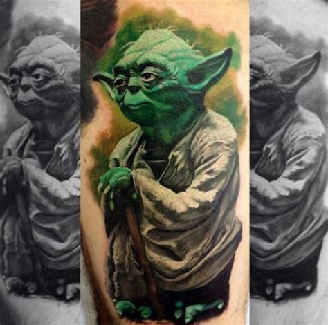 yoda tattoo 60 yoda designs for jedi master ink ideas