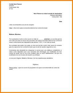 Mod Le De Lettre De Refus De Demande D Emploi Lettre Refus Rupture Conventionnelle Mise En Demeure 2018