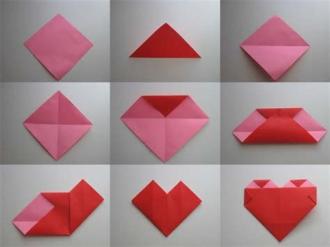 Simple Origami Hearts - image gallery origami