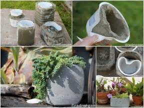 Homemade Flower Pots Ideas by Diy Molded Concrete Planters Fabdiy