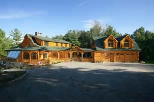 3 car garage log cabin living