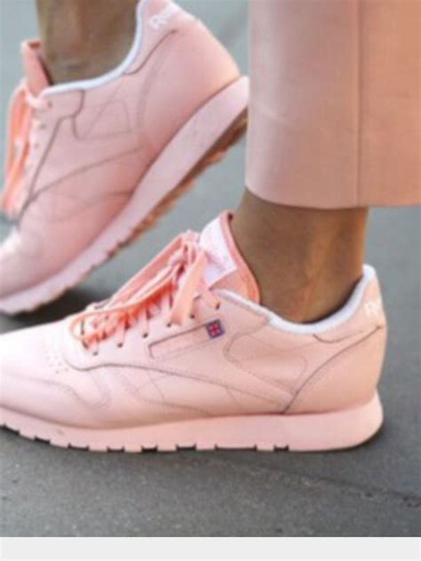 shoes baby pink reebok sneakers pastel pink wheretoget