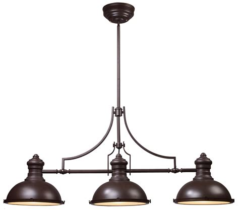 3 Light Pendant Fixture Elk Lighting 66135 3 Chadwick Pool Table Light