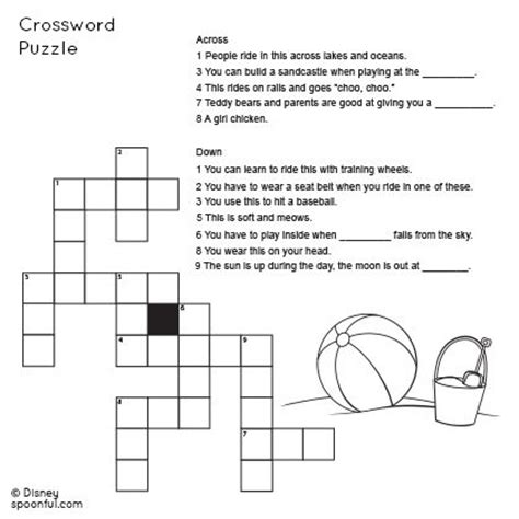 printable word games for grade 6 2nd grade beach themed crossword puzzle ideas for future