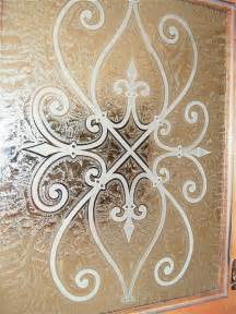 Rustic Kitchen Backsplash by Glass Door Cabinets Inserts Frosted Carved Custom Glass
