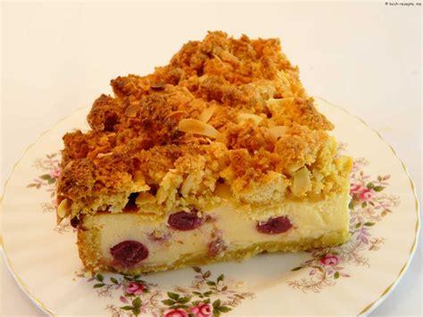 kirsch quark kuchen kirsch quark kuchen rezept mit einer knusprigen haube