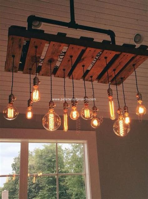 diy home lighting design chandeliers made out of pallets pallet wood projects