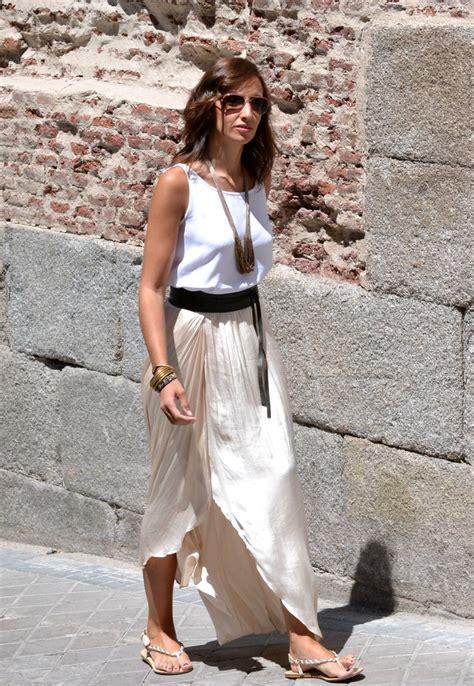 imagenes de faldas blancas largas las 25 mejores ideas sobre blusas para faldas largas en