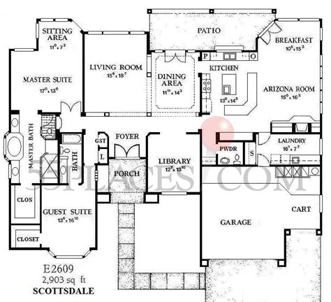 sun city west az floor plans e2609 scottsdale floorplan 2903 sq ft sun city