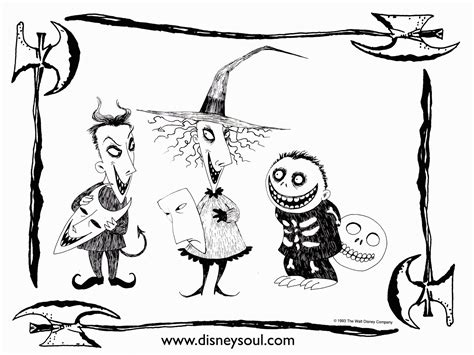 coloring page of nightmare before christmas nightmare before christmas coloring pages printable