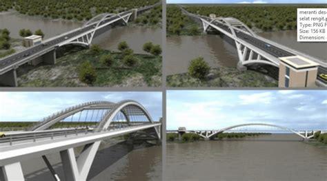 gambar desain jembatan gambar teknis kerja memasang besi tulangan pelat lantai